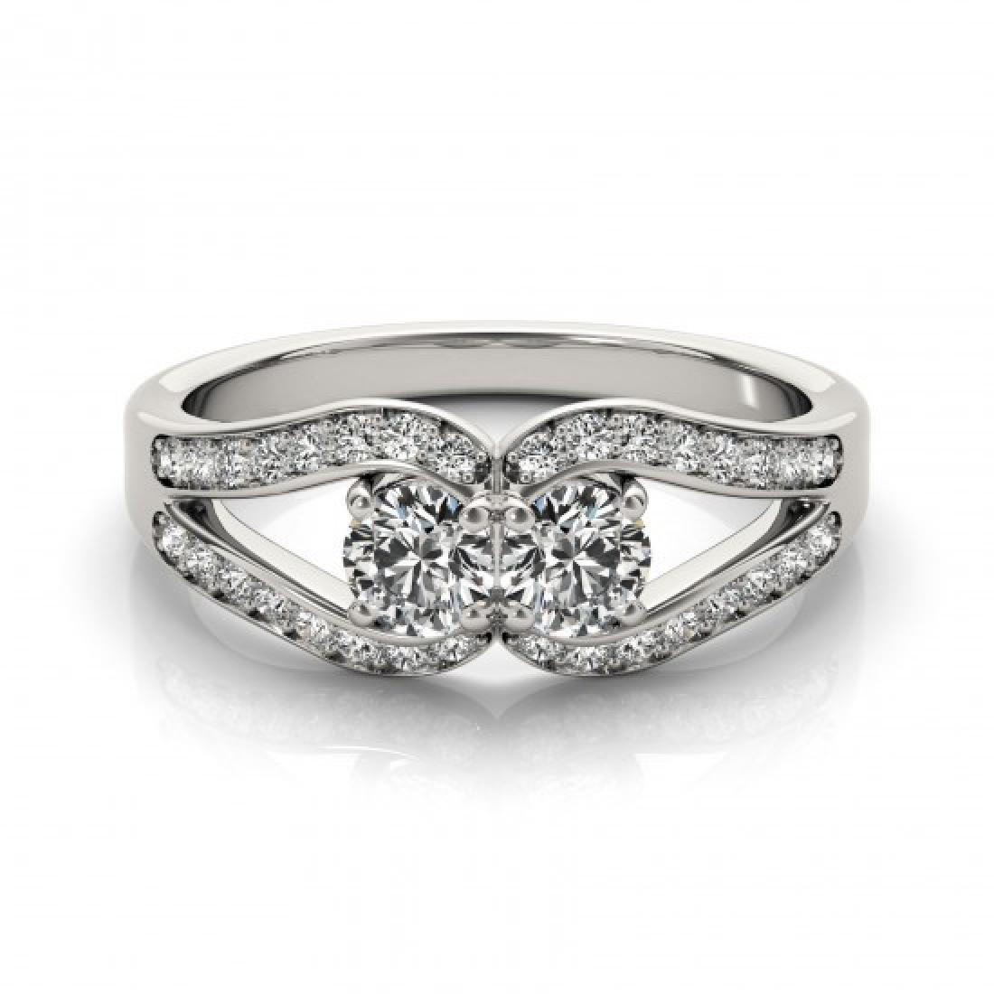 1.35 CTW Certified VS/SI Diamond 2 Stone 2 Stone Ring