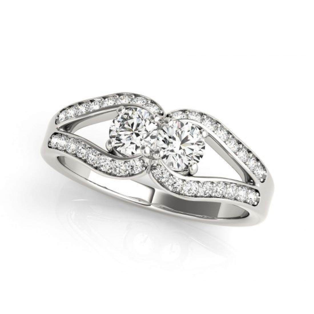 1.35 CTW Certified VS/SI Diamond 2 Stone 2 Stone Ring - 2
