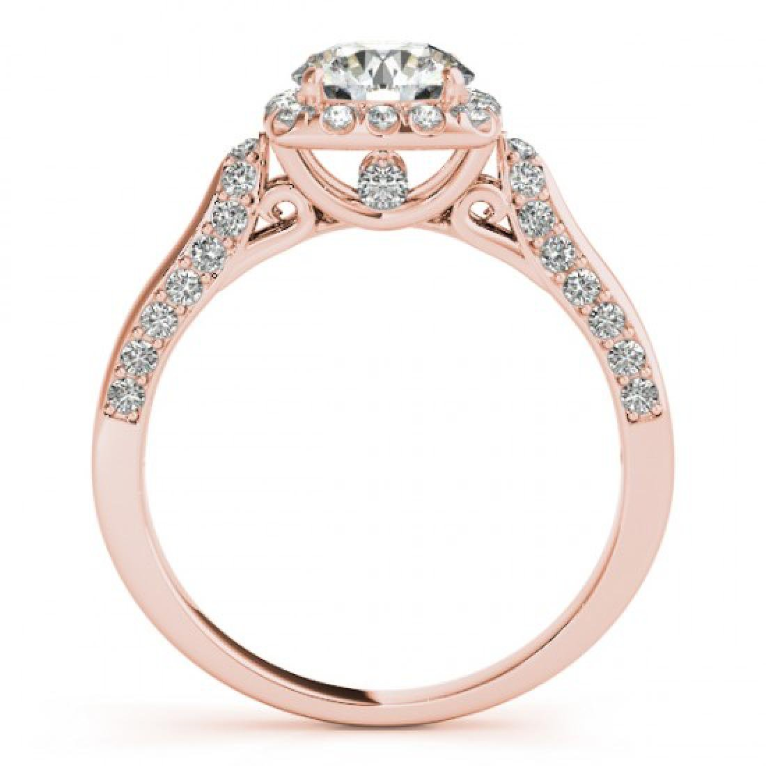 1.08 CTW Certified VS/SI Diamond Solitaire Halo Ring - 2