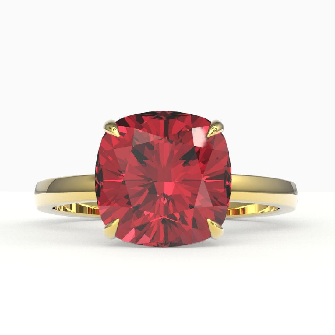 6 CTW Cushion Cut Pink Tourmaline Inspired Solitaire