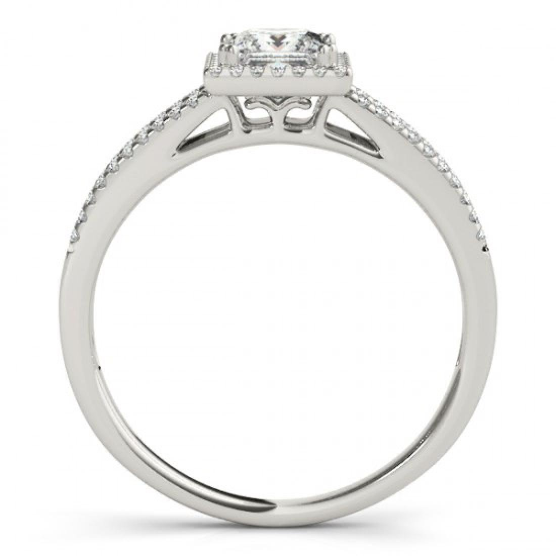 1.1 CTW Certified VS/SI Princess Diamond Solitaire Halo - 2
