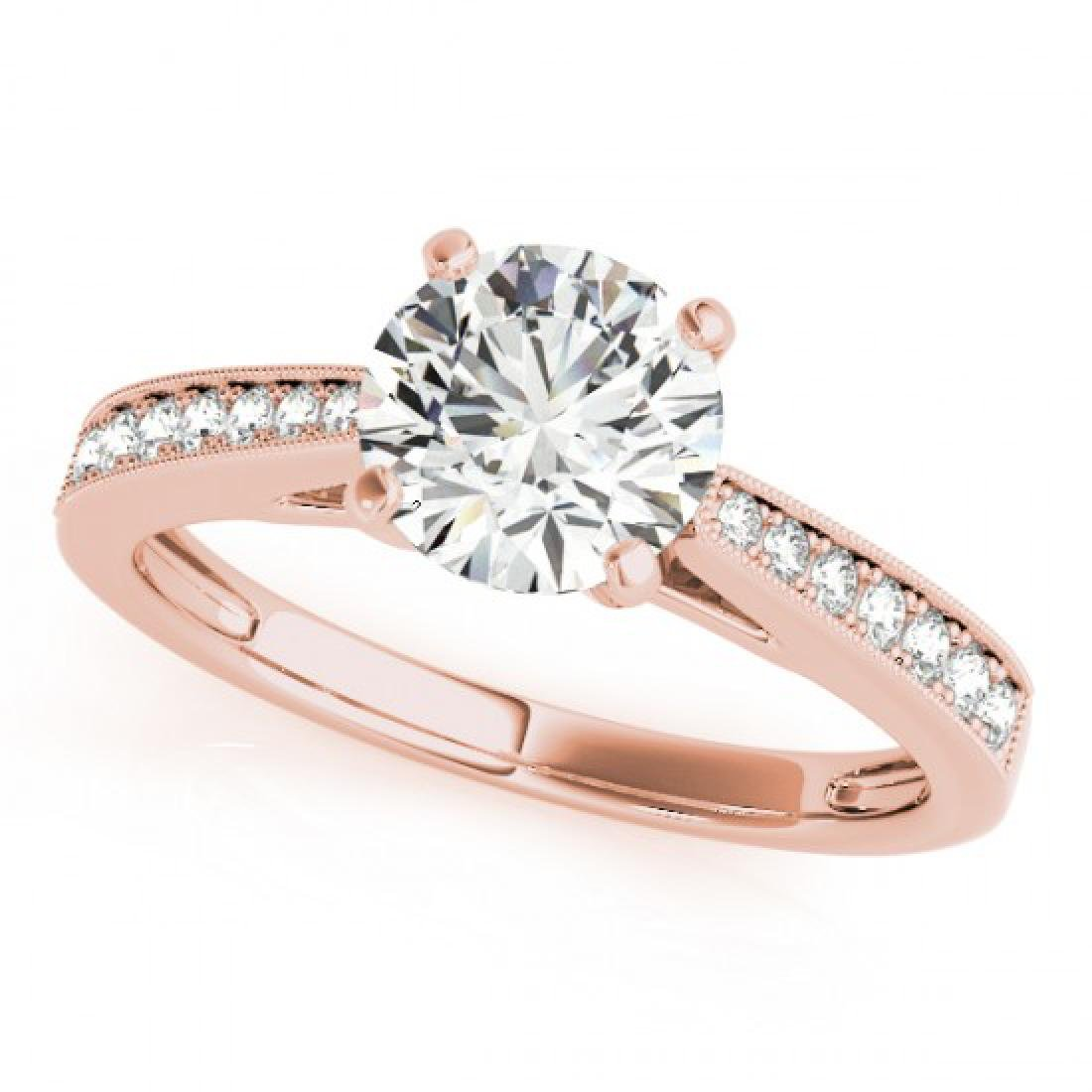 0.4 CTW Certified VS/SI Diamond Solitaire Ring 14K Rose