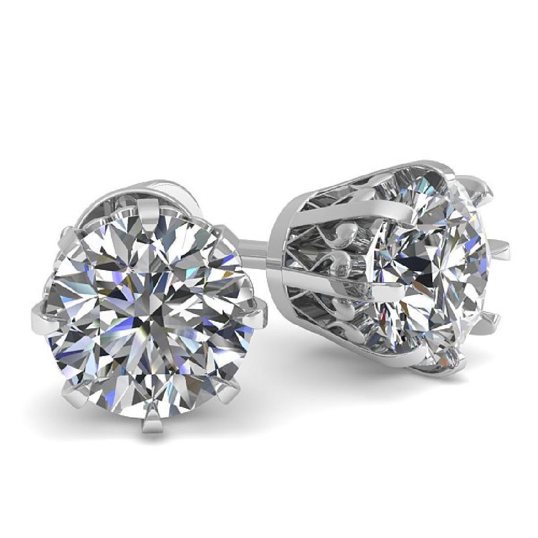 1.0 CTW VS/SI Diamond Stud Solitaire Earrings 14K White