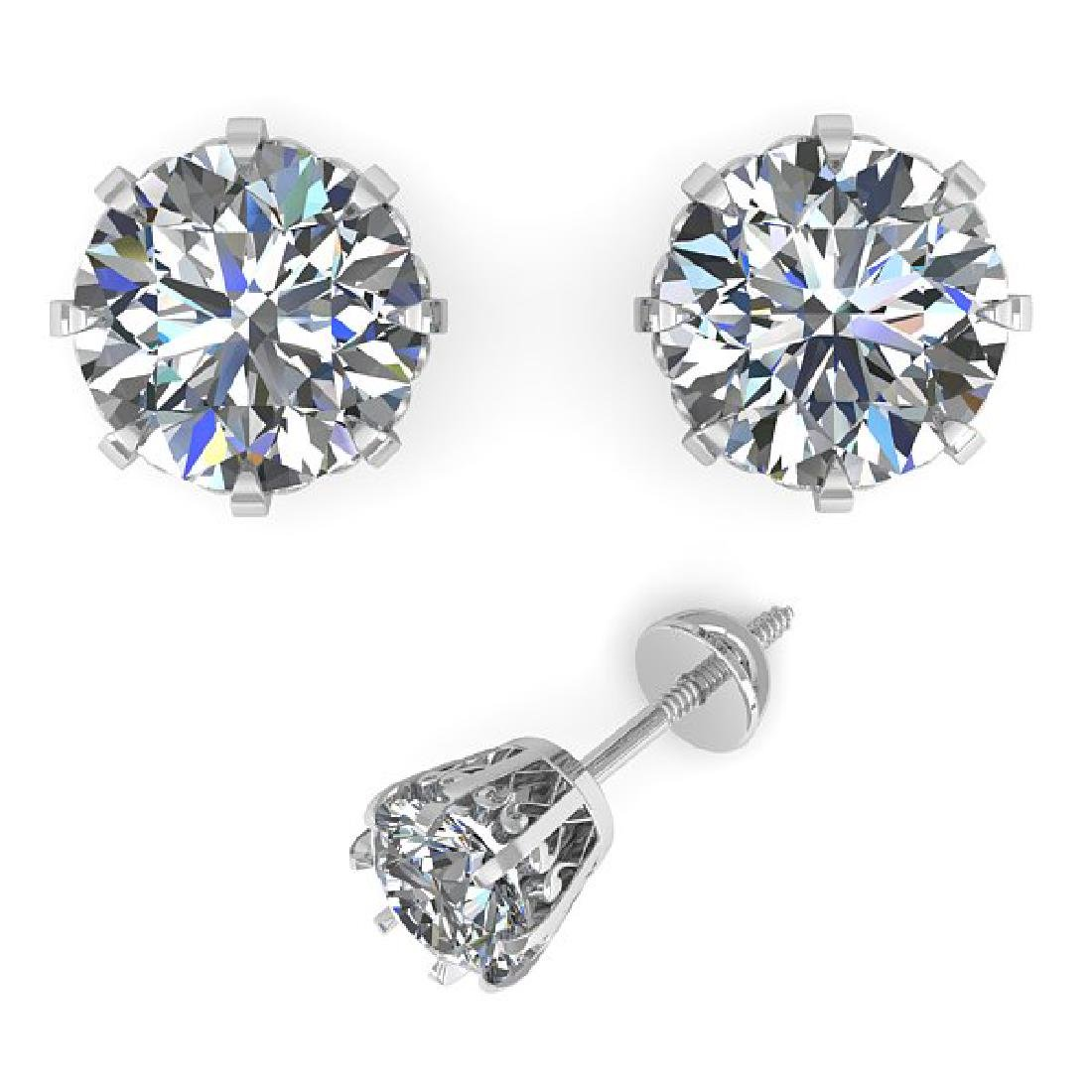 1.0 CTW VS/SI Diamond Stud Solitaire Earrings 14K White - 2