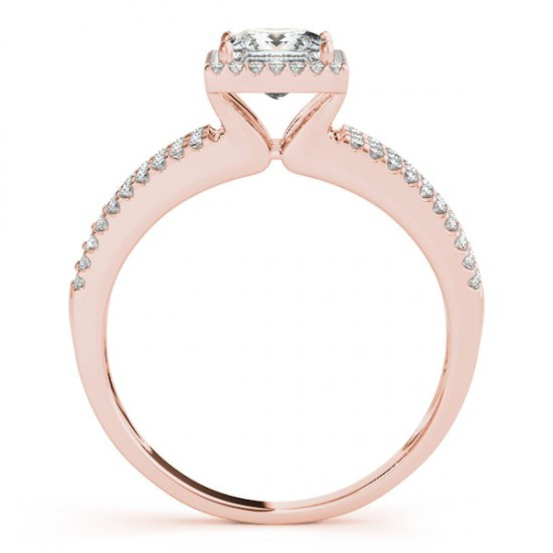 0.95 CTW Certified VS/SI Princess Diamond Solitaire - 2