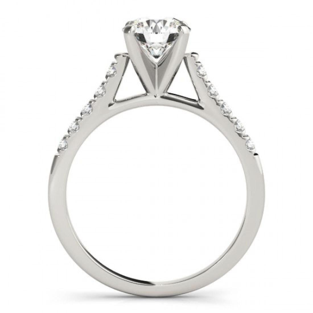 0.77 CTW Certified VS/SI Diamond Solitaire Ring 14K - 2