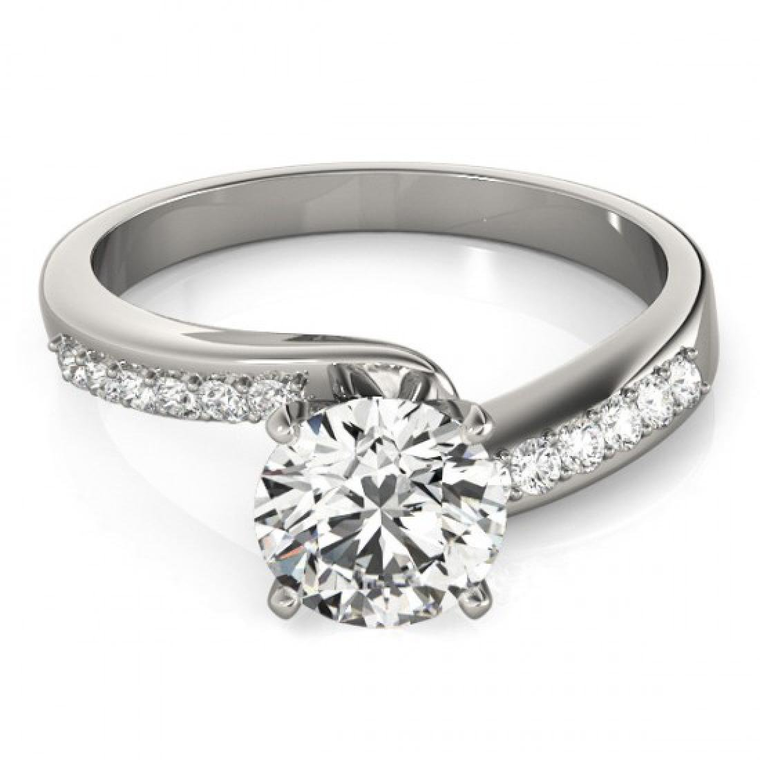 1.15 CTW Certified VS/SI Diamond Bypass Solitaire Ring