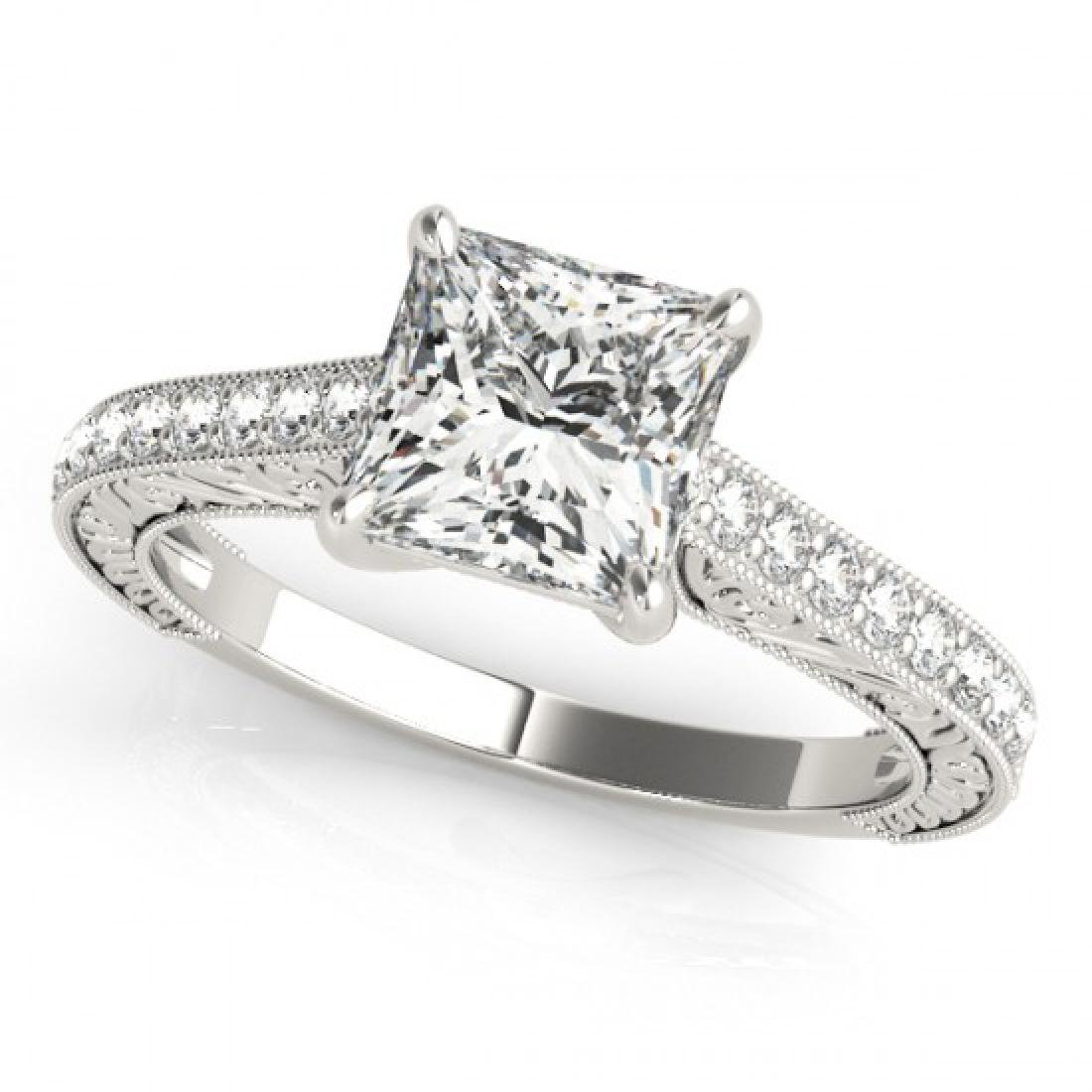0.8 CTW Certified VS/SI Princess Diamond Solitaire Ring