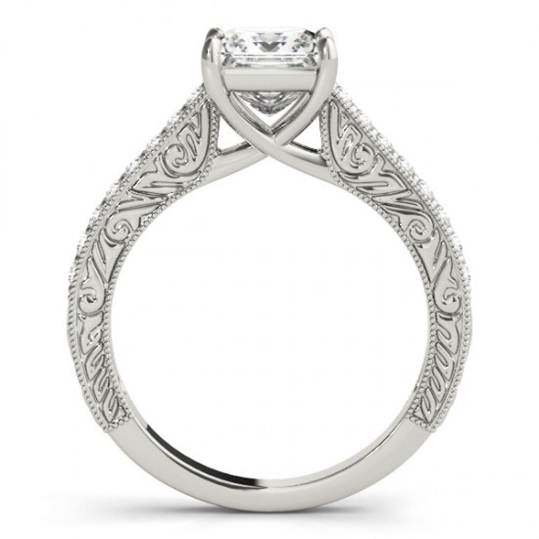 0.8 CTW Certified VS/SI Princess Diamond Solitaire Ring - 2