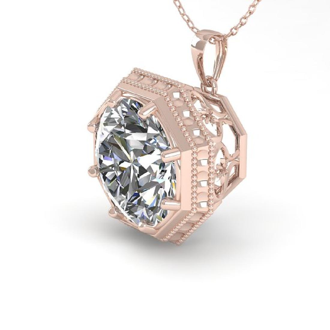 1.50 CTW Certified VS/SI Diamond Necklace 14K Rose Gold