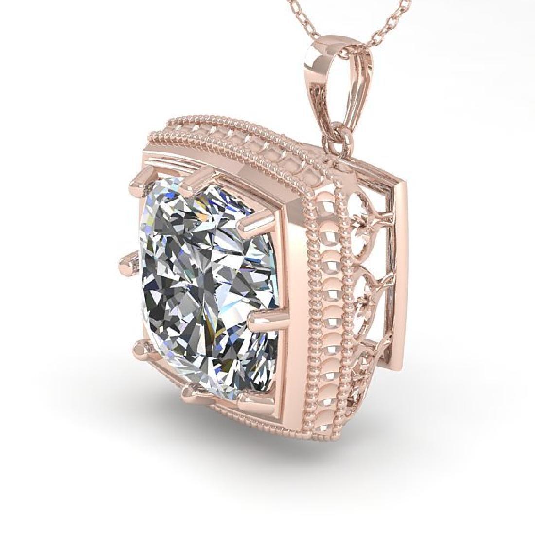 1 CTW VS/SI Cushion Cut Diamond Solitaire Necklace 14K