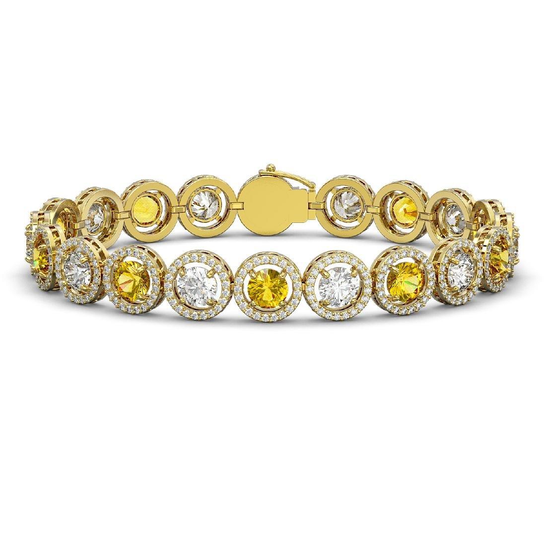 13.76 CTW Canary Yellow & White Diamond Designer