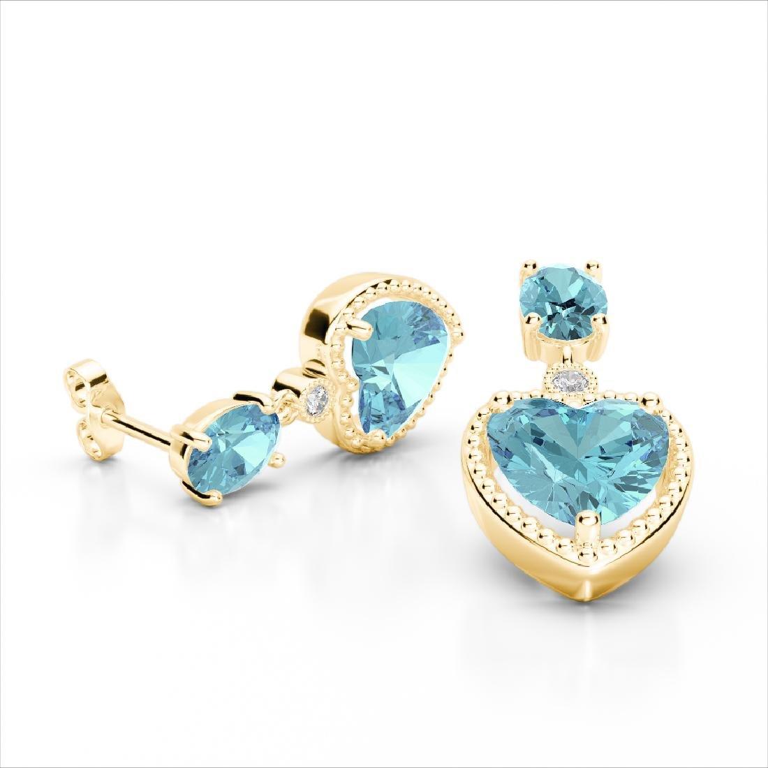 8 CTW Sky Blue Topaz & VS/SI Diamond Designer Heart - 2