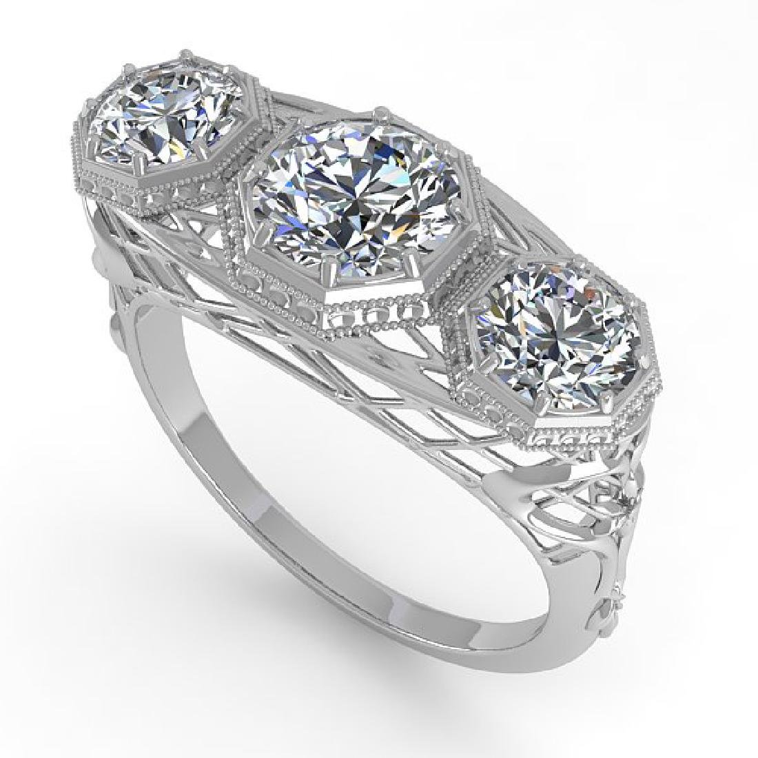 2 CTW VS/SI Diamond Ring 14K White Gold - 2