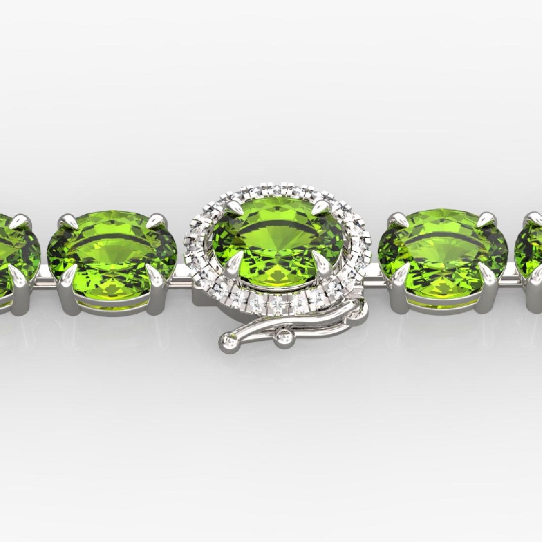 32 CTW Peridot & VS/SI Diamond Tennis Micro Pave Halo