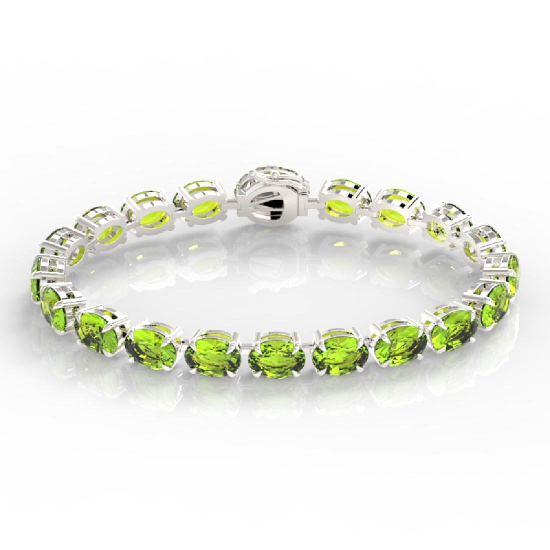 32 CTW Peridot & VS/SI Diamond Tennis Micro Pave Halo - 2