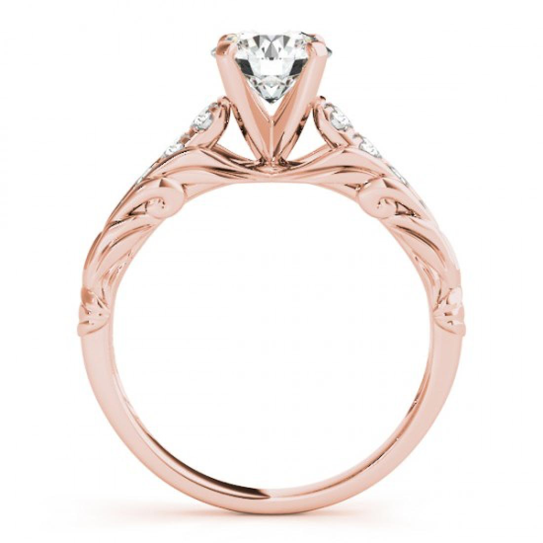 1.2 CTW Certified VS/SI Diamond Solitaire Ring 14K Rose - 2