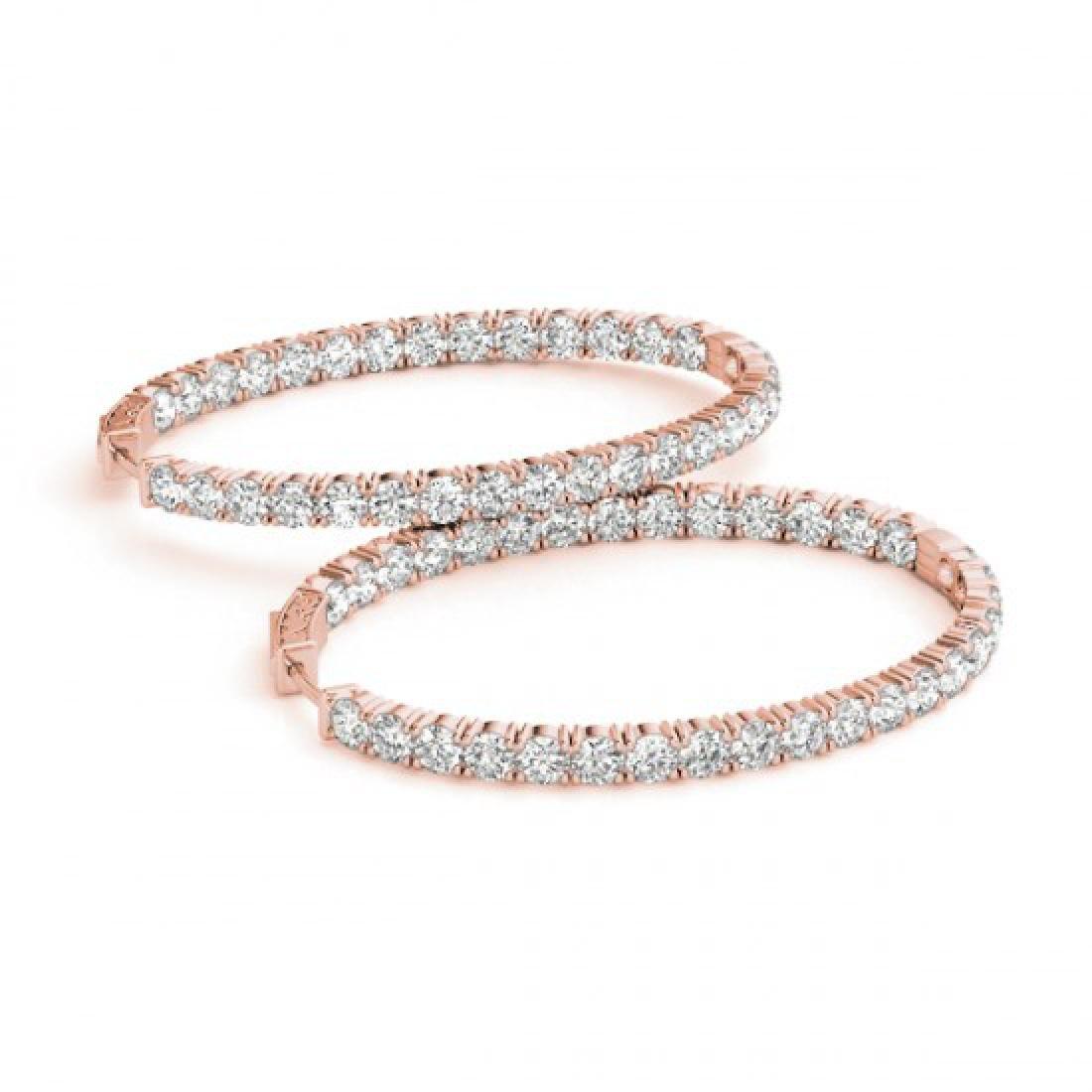 2.33 CTW Diamond VS/SI Certified 30 Mm Hoop Earrings