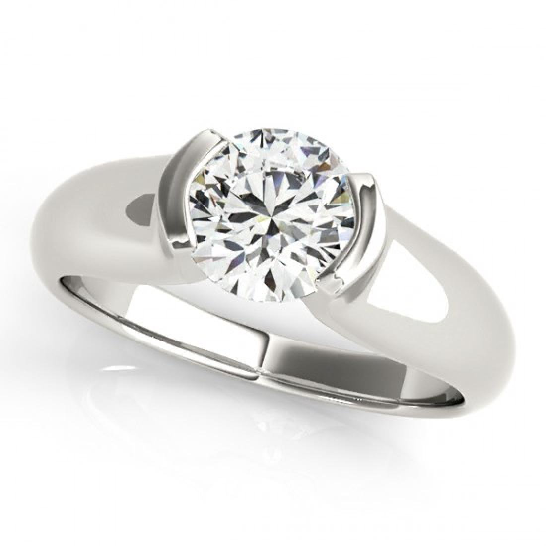 0.5 CTW Certified VS/SI Diamond Solitaire Ring 14K - 2