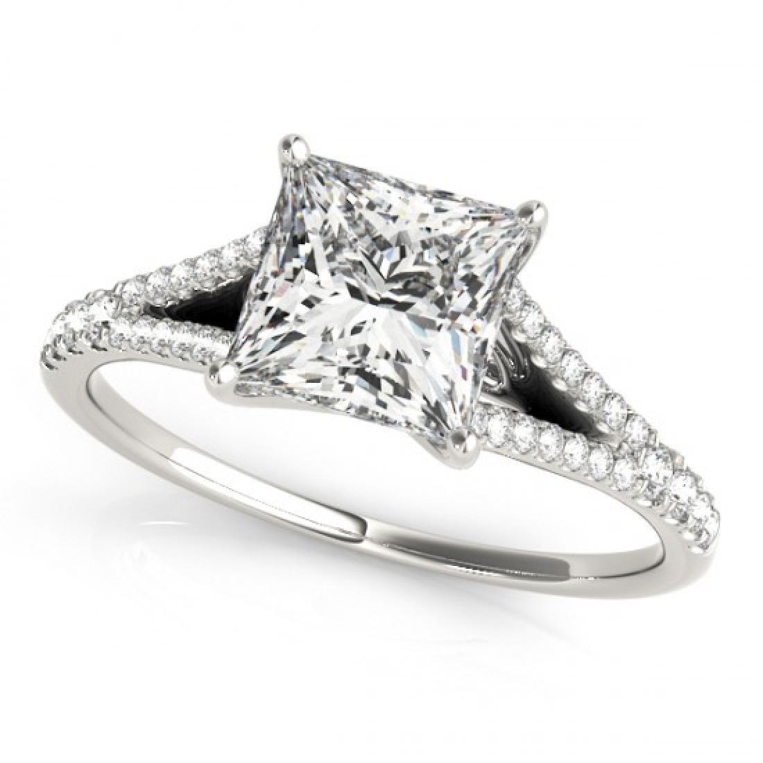1.31 CTW Certified VS/SI Princess Diamond Solitaire