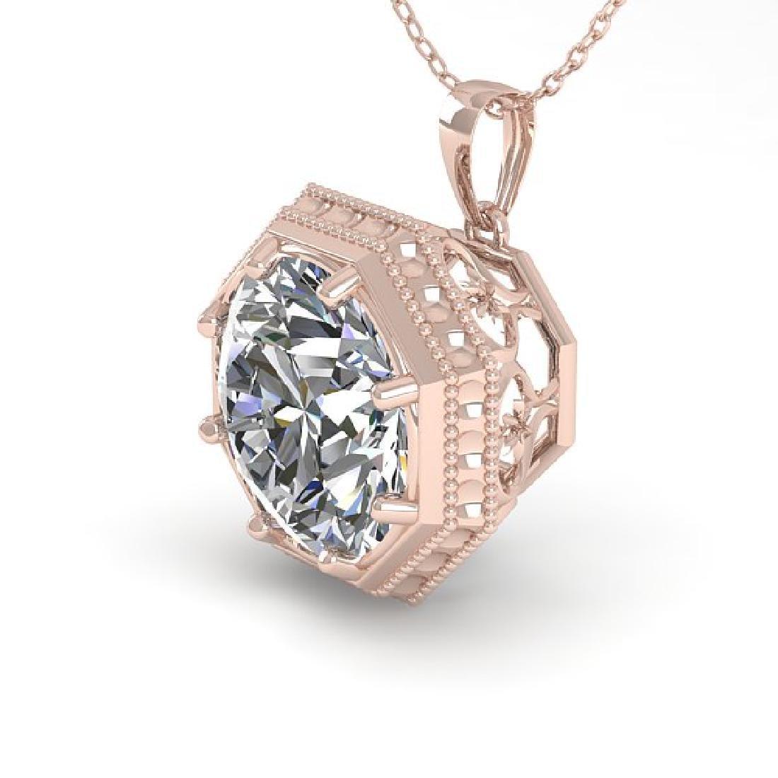1 CTW VS/SI Diamond Solitaire Necklace 14K Rose Gold