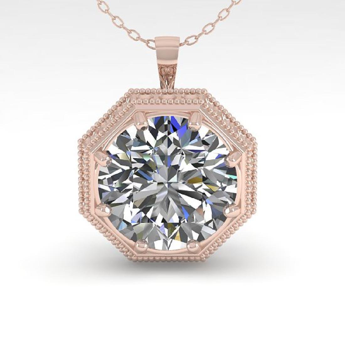 1 CTW VS/SI Diamond Solitaire Necklace 14K Rose Gold - 2