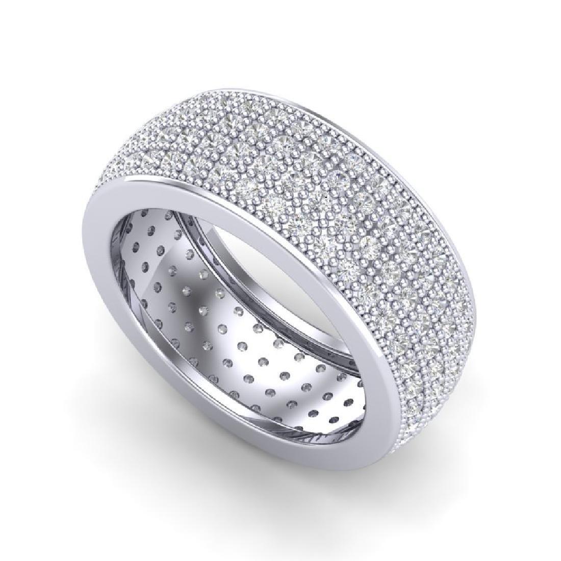 2.50 CTW Micro Pave VS/SI Diamond Eternity Band Ring - 2