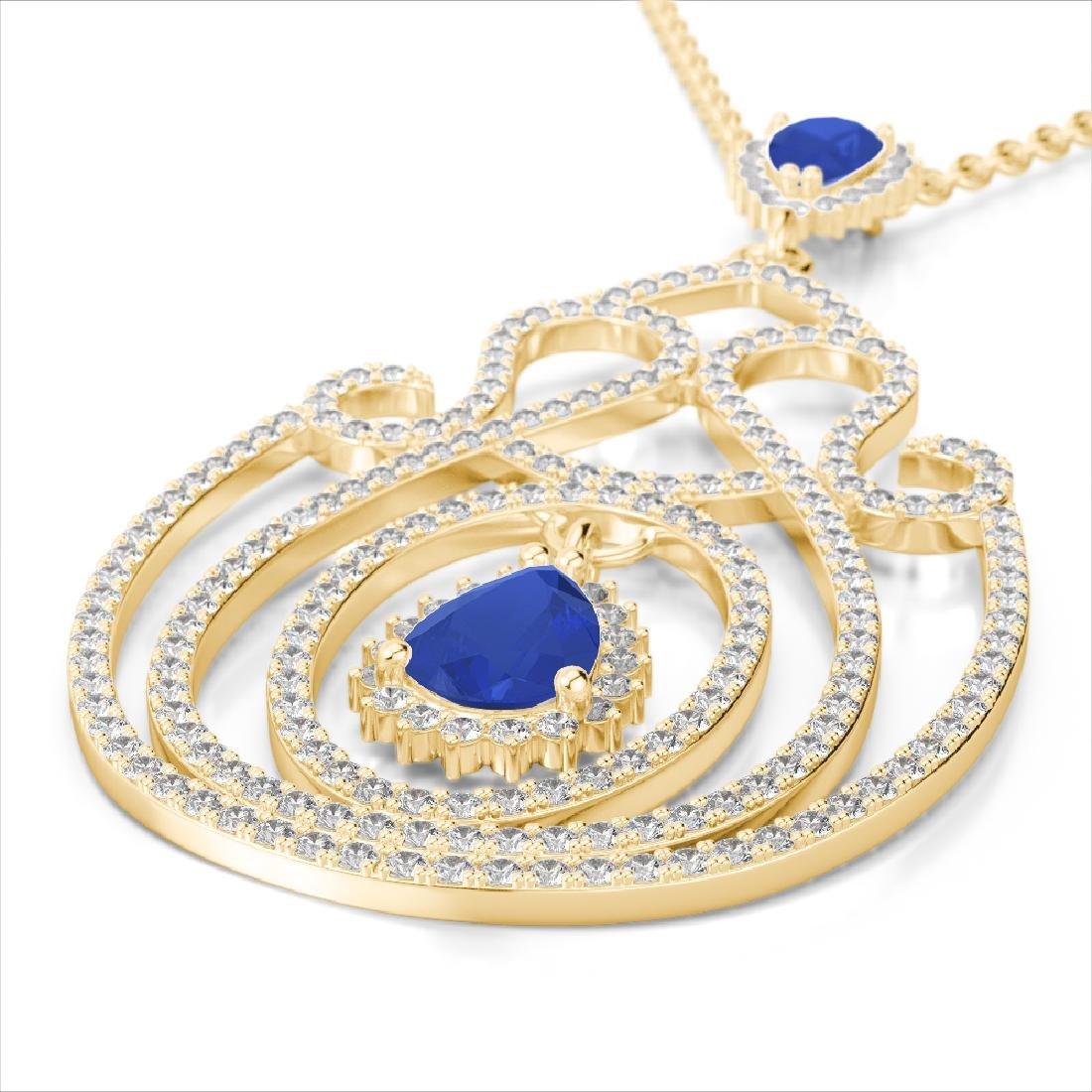3.20 CTW Sapphire & Micro Pave VS/SI Diamond Heart