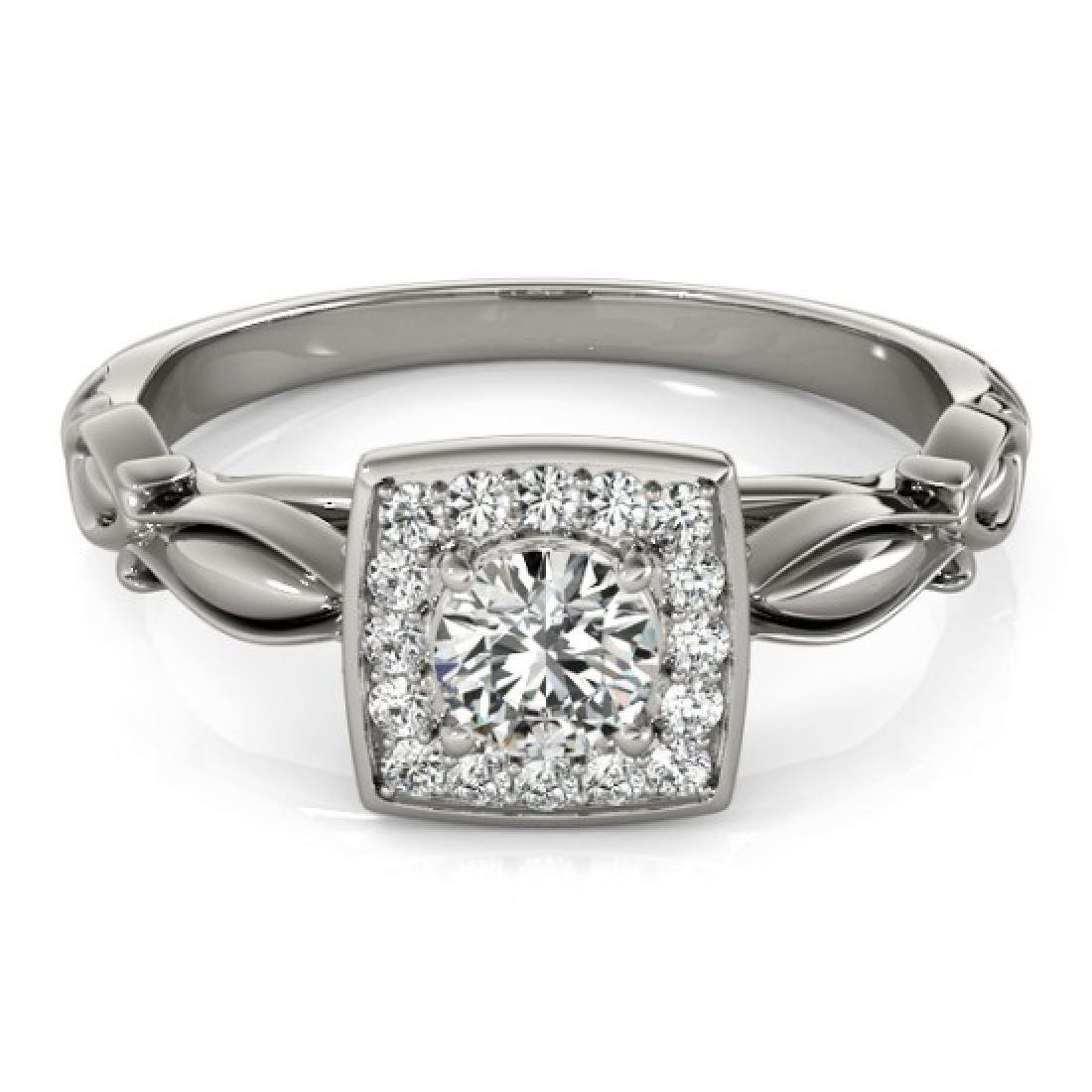 0.55 CTW Certified VS/SI Diamond Solitaire Halo Ring