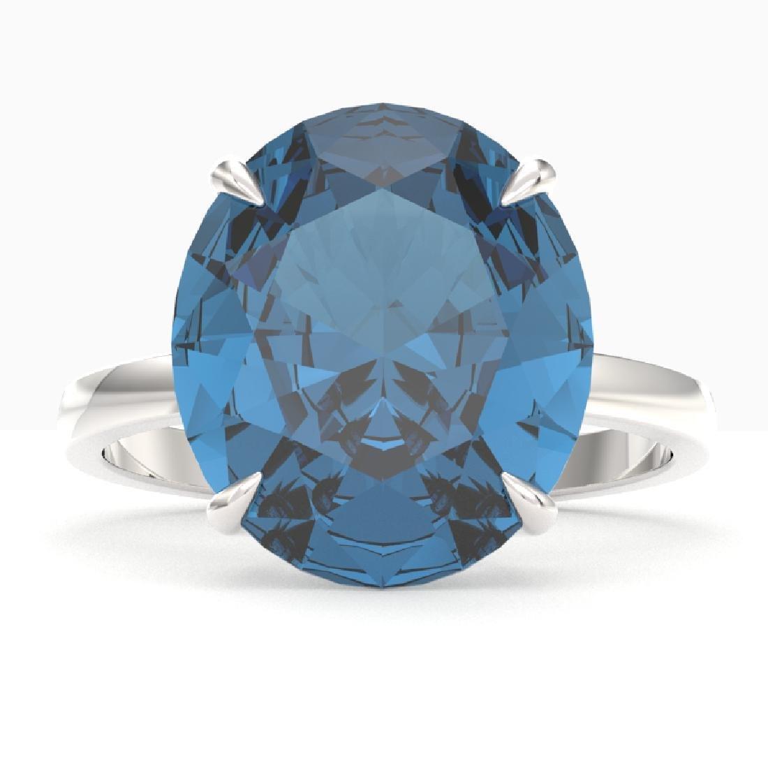 9 CTW London Blue Topaz Designer Solitaire Engagement