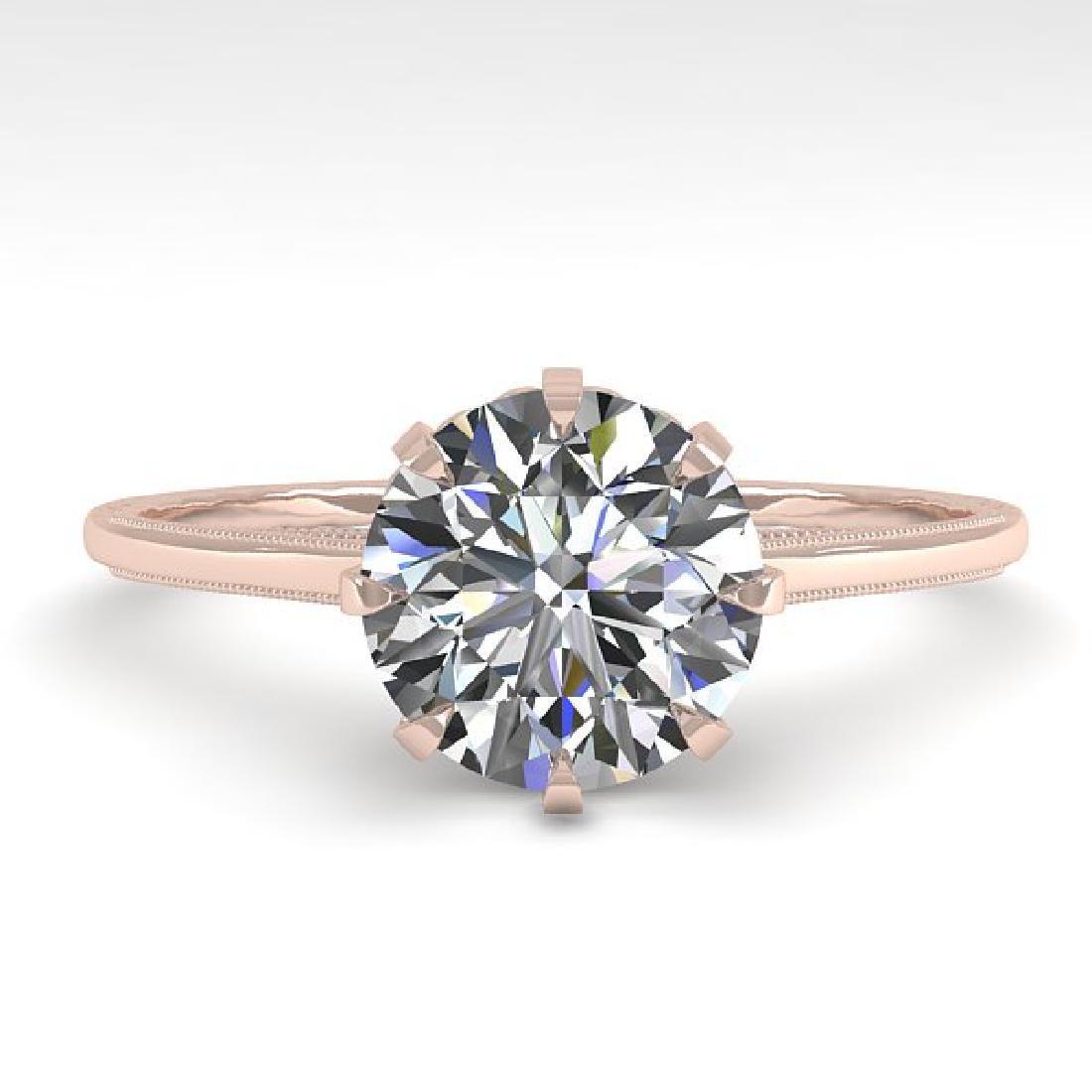 1.51 CTW Certified VS/SI Diamond Ring 14K Rose Gold