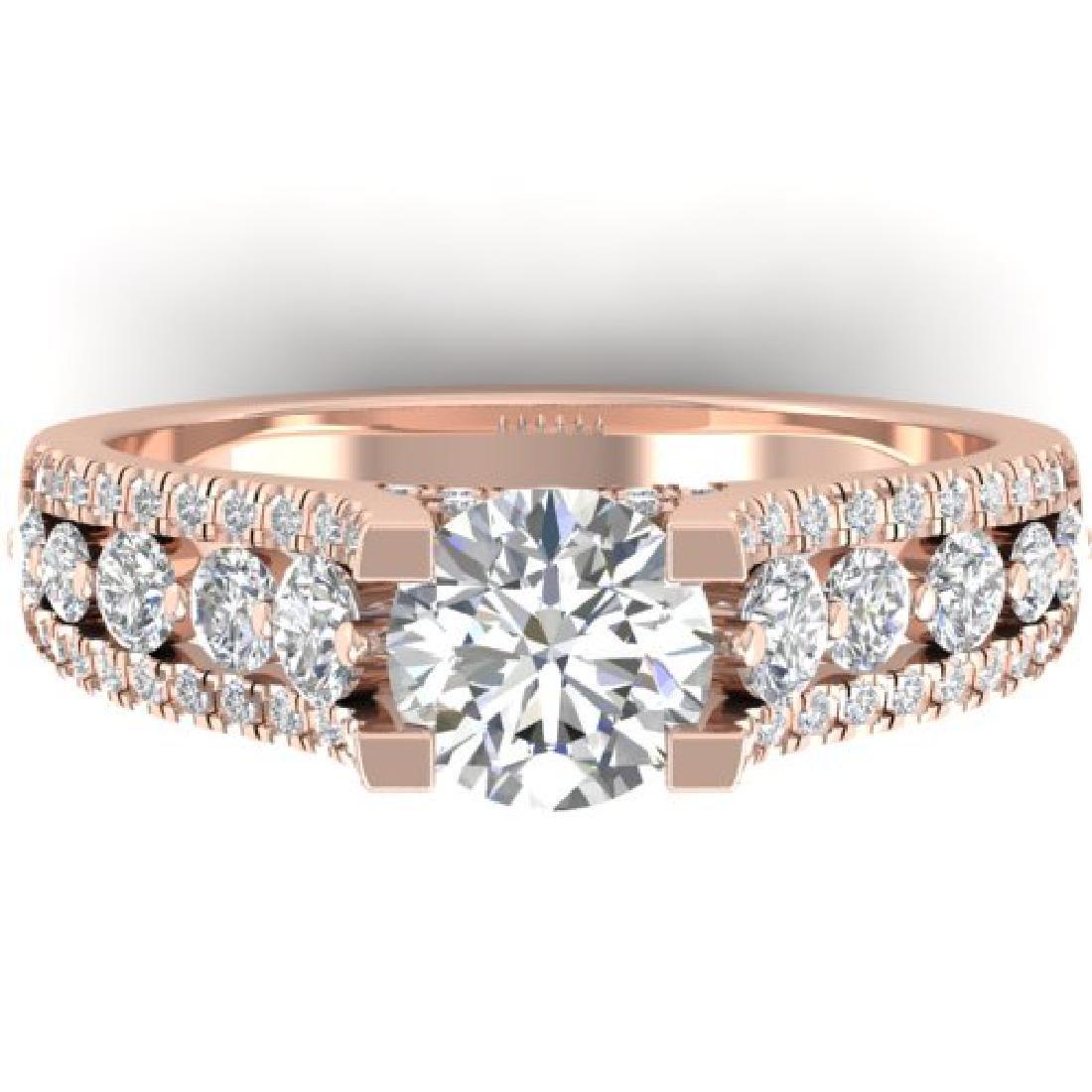 2.55 CTW Certified VS/SI Diamond Art Deco Micro Ring