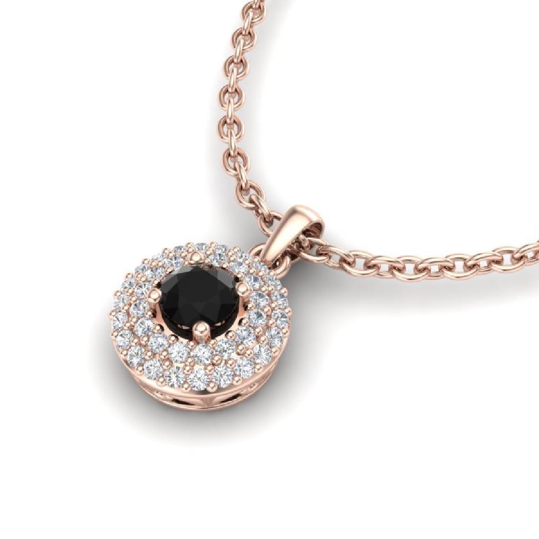 0.70 CTW Micro Pave VS/SI Diamond Designer Necklace 14K - 2