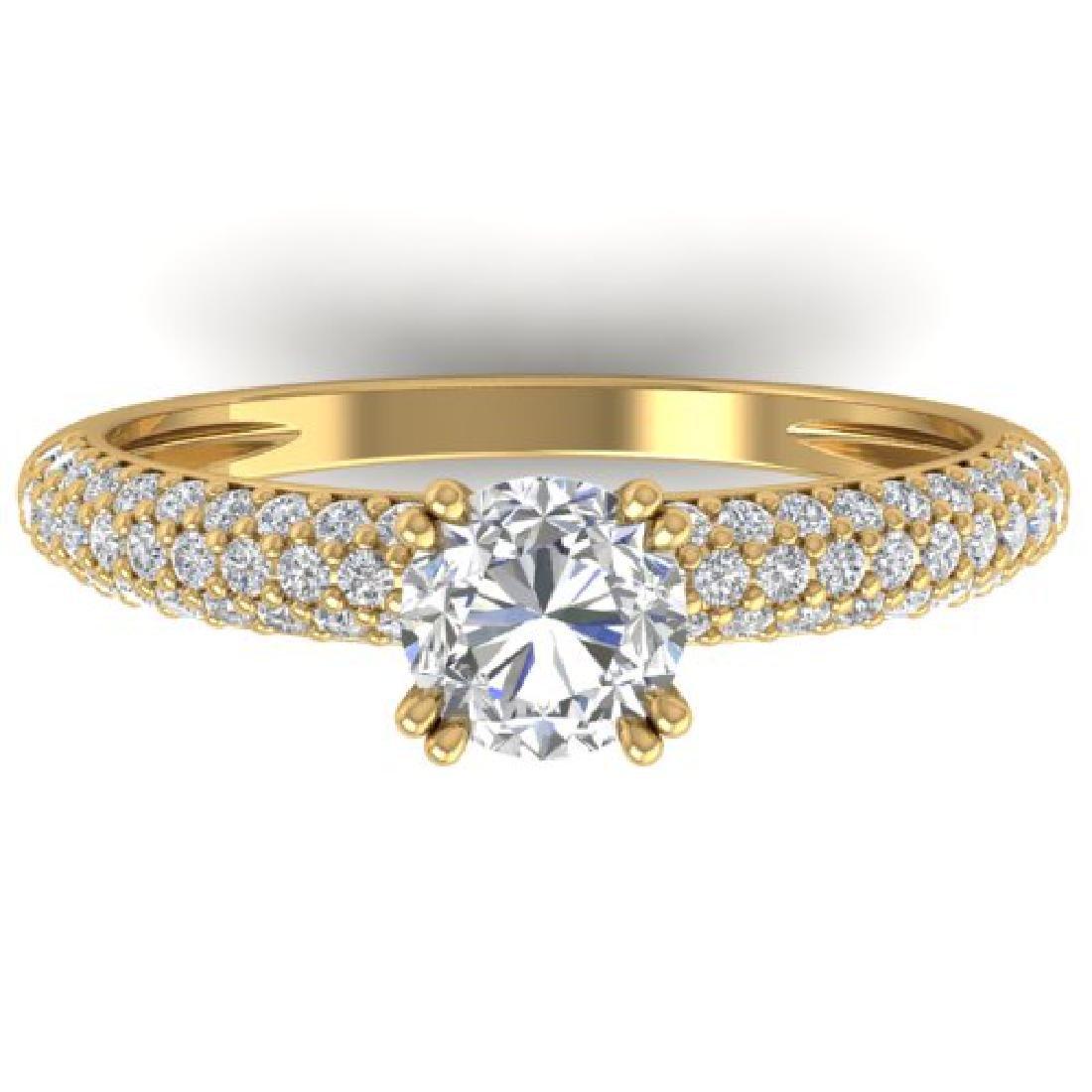 1.4 CTW Certified VS/SI Diamond Solitaire Art Deco
