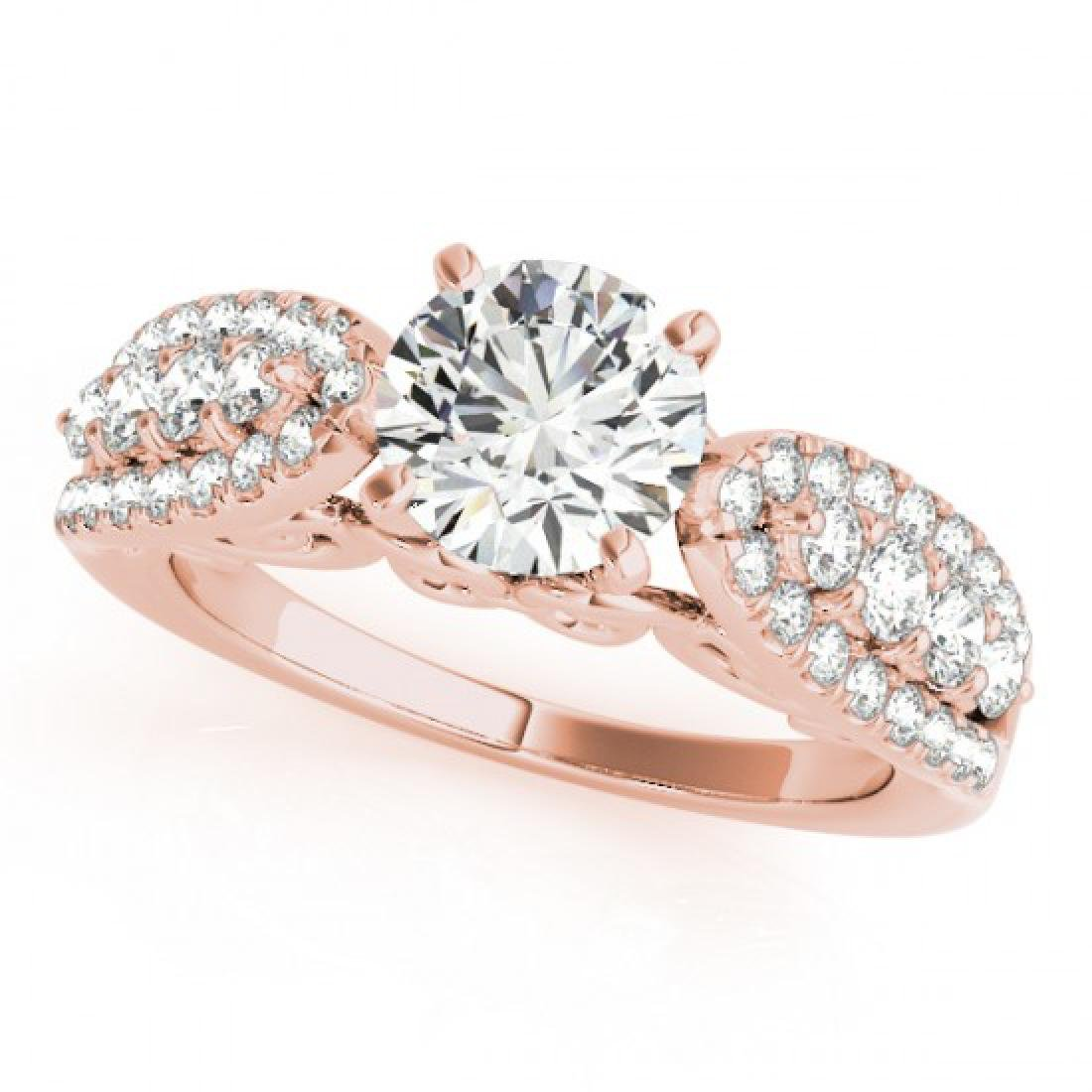 2 CTW Certified VS/SI Diamond Solitaire Ring 14K Rose