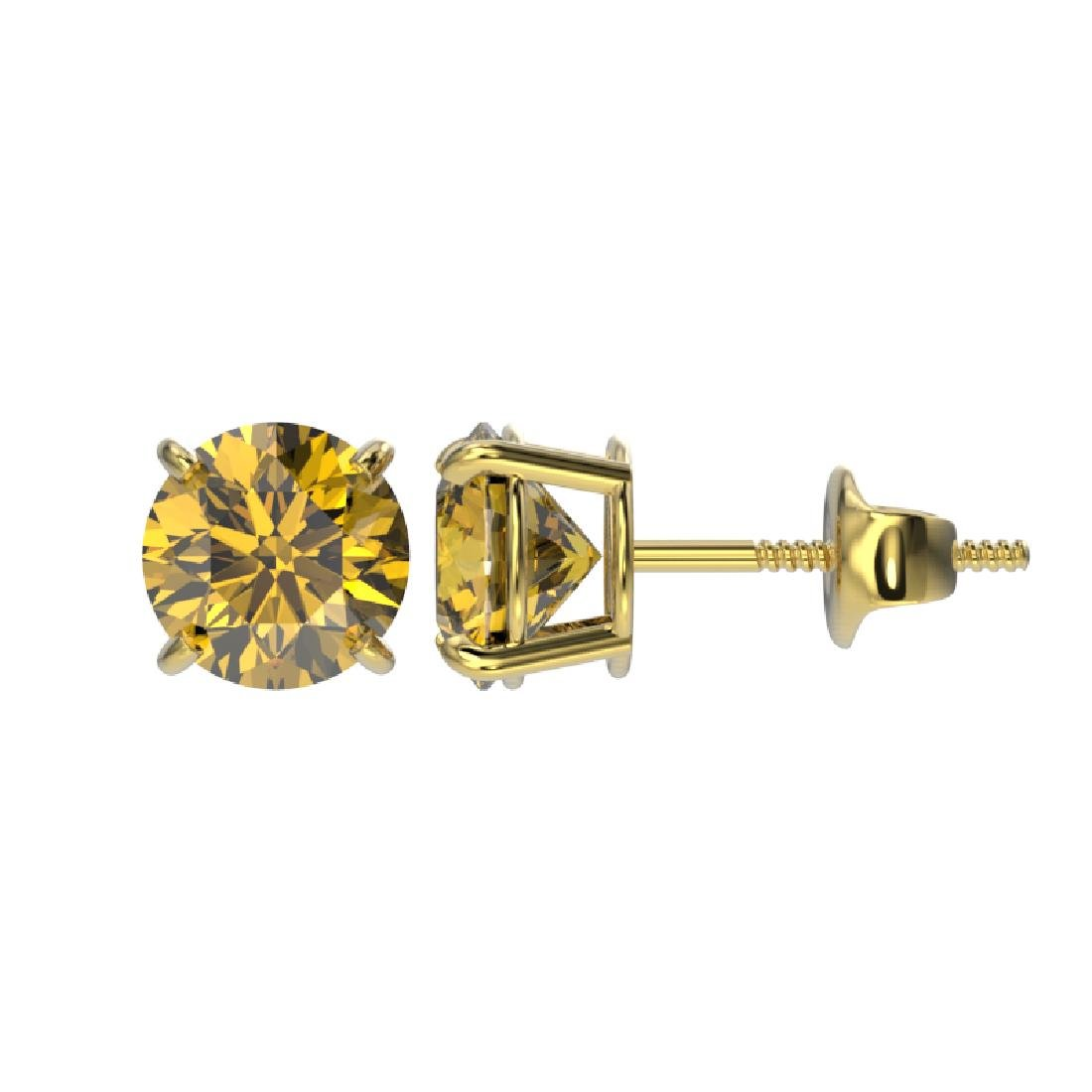 1.54 CTW Certified Intense Yellow SI Diamond Solitaire - 2