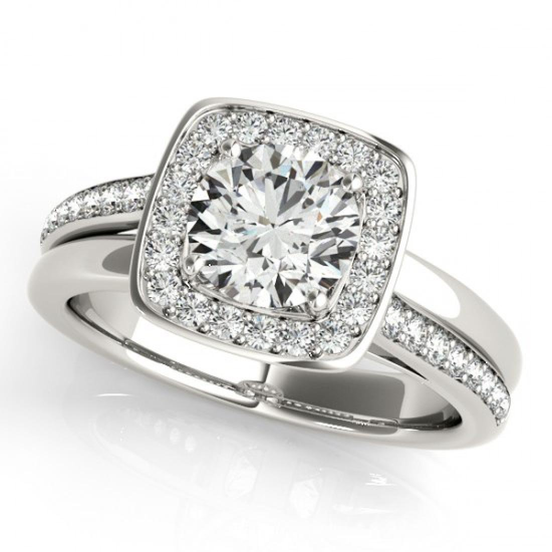 1.33 CTW Certified VS/SI Diamond Solitaire Halo Ring - 2
