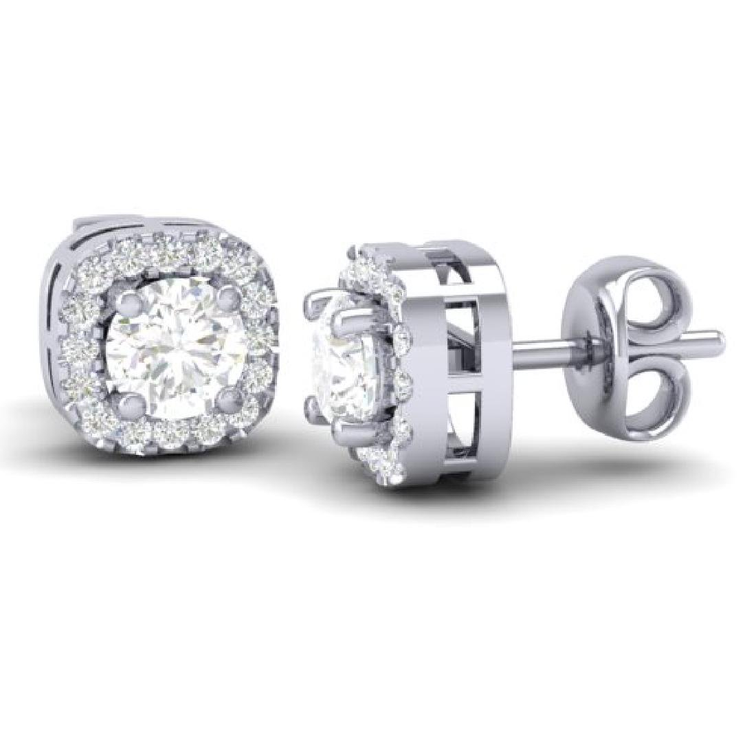 0.75 CTW Micro Pave VS/SI Diamond Earrings Designer - 2
