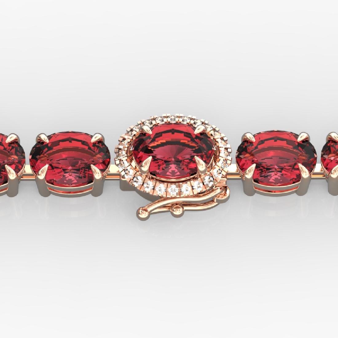 27 CTW Pink Tourmaline & VS/SI Diamond Micro Halo