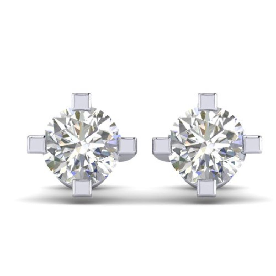 1 CTW Certified VS/SI Diamond Solitaire Stud Earrings