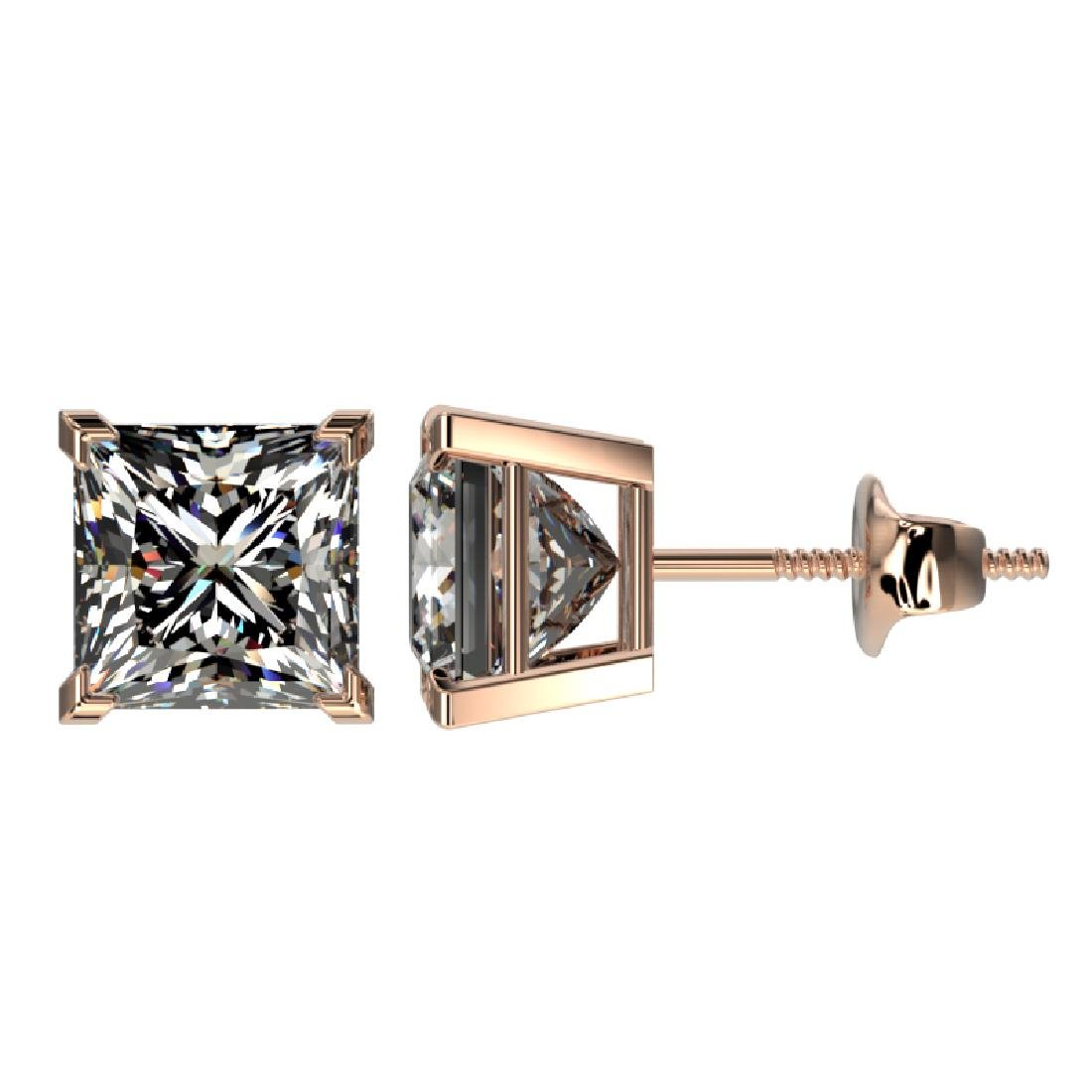 2.50 CTW Certified VS/SI Quality Princess Diamond Stud - 2
