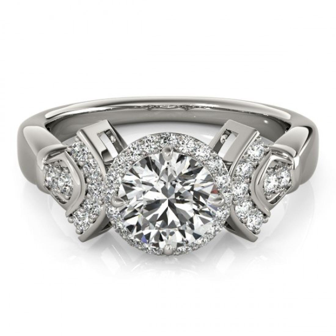1.56 CTW Certified VS/SI Diamond Solitaire Halo Ring