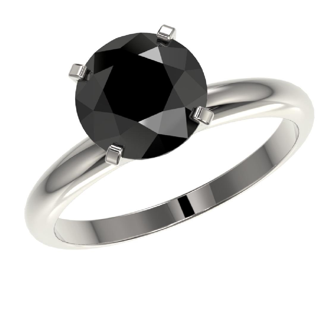 2.59 CTW Fancy Black VS Diamond Solitaire Engagement - 2