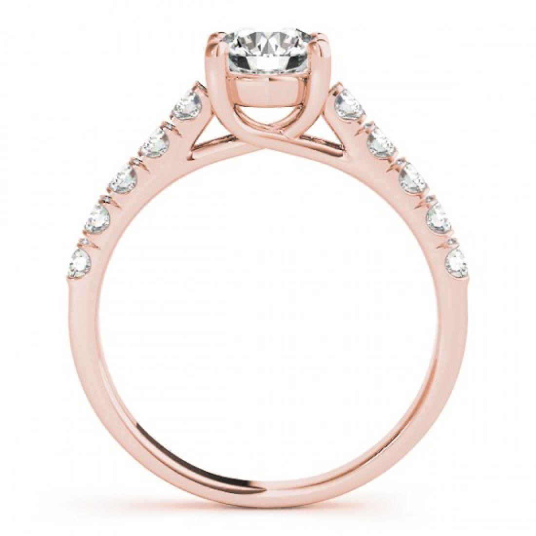 2.1 CTW Certified VS/SI Diamond Solitaire Ring 14K Rose - 2