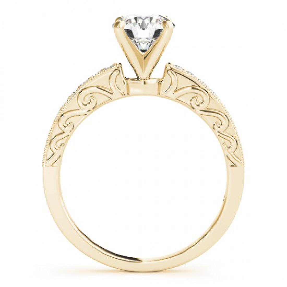 0.7 CTW Certified VS/SI Diamond Solitaire Antique Ring - 2