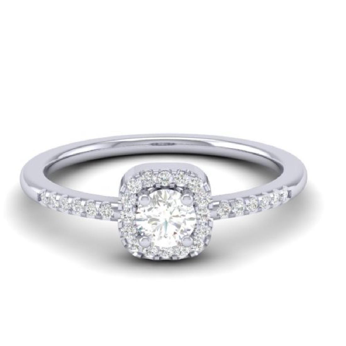 0.45 CTW Micro Pave VS/SI Diamond Ring Designer Halo