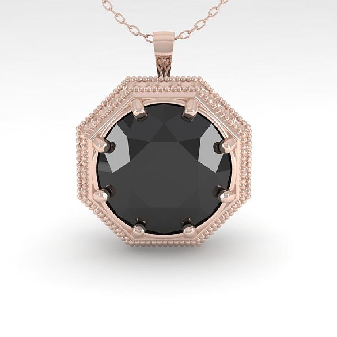 1.50 CTW Black Certified Diamond Necklace 14K Rose Gold - 2