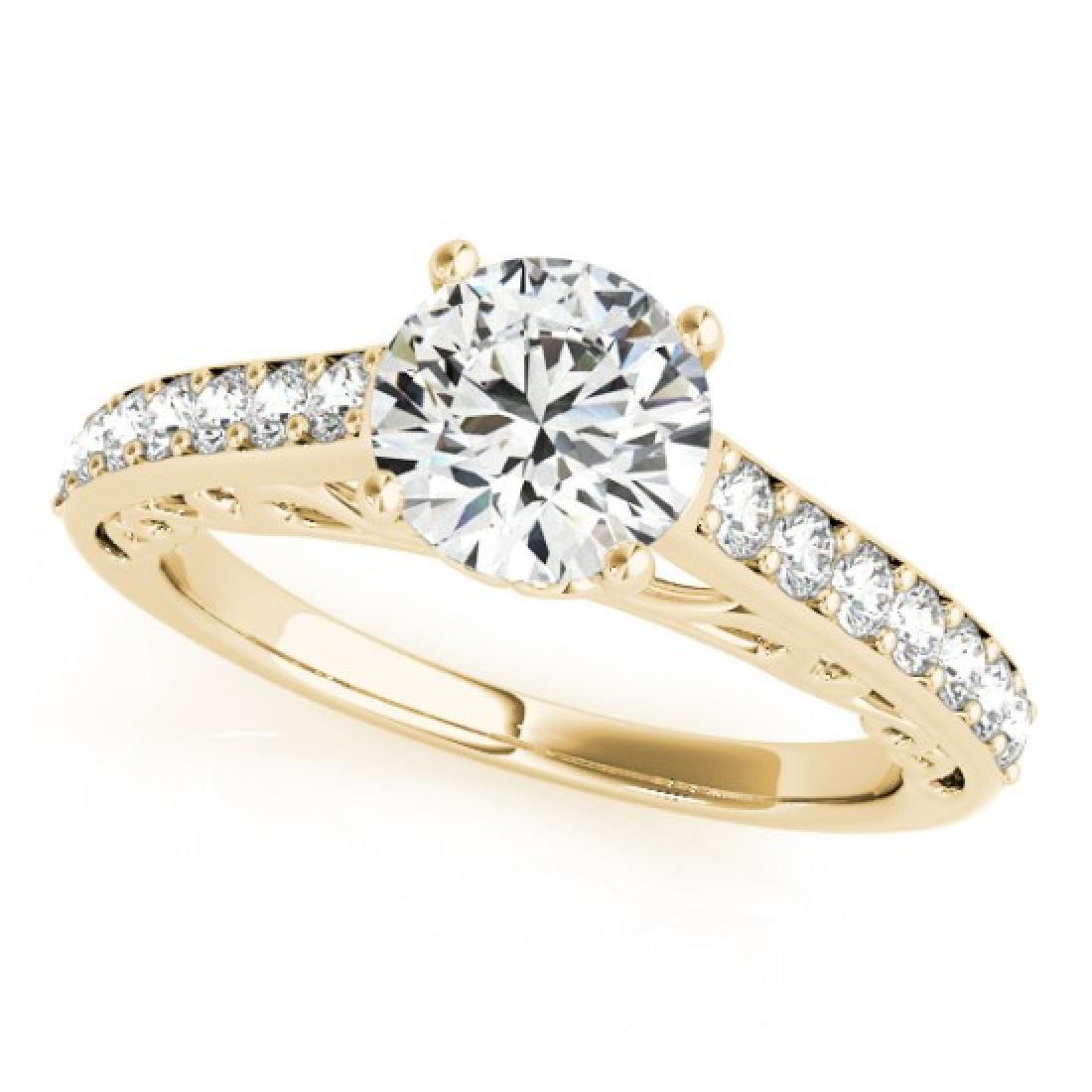 1.4 CTW Certified VS/SI Diamond Solitaire Ring 14K
