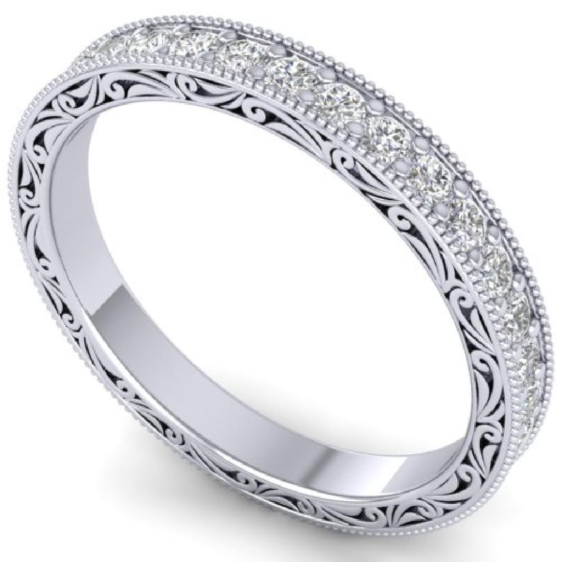 1 CTW Certified VS/SI Diamond Art Deco Eternity Band - 2