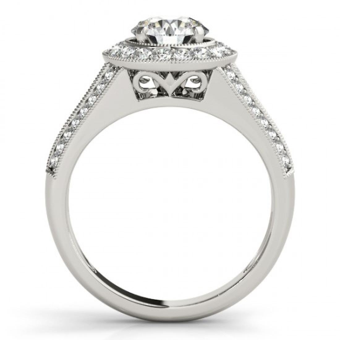 2.17 CTW Certified VS/SI Diamond Solitaire Halo Ring - 2